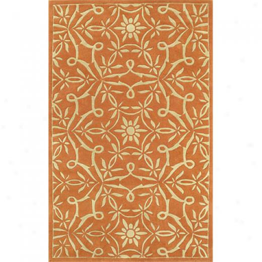 Klaussner Home Furnishings Sassy Silhouettes Orange 8 X 11 Sassy Silhouettes Orange Area Rugs