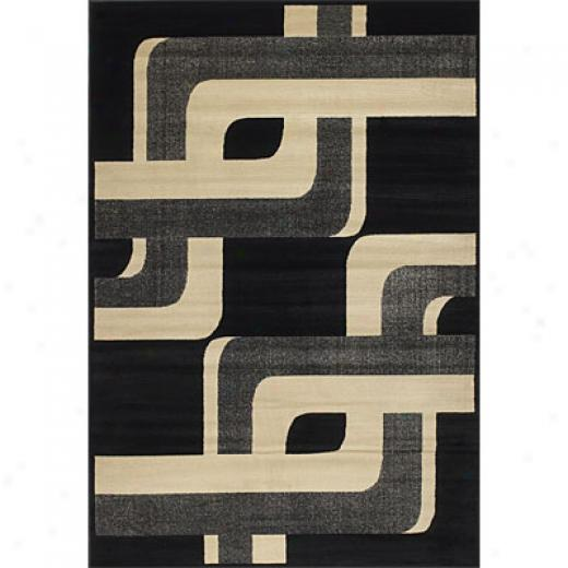 Klaussner Home Furnishings Turn It Up 5 X 8 Black Area Rugs