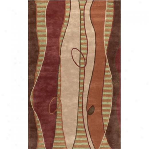 Klaussner Home Furnishings Going Graphic 5 X 8 Brown Area Rugs