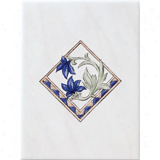 Laufen Illusion Insert Floral White Tile & Stone