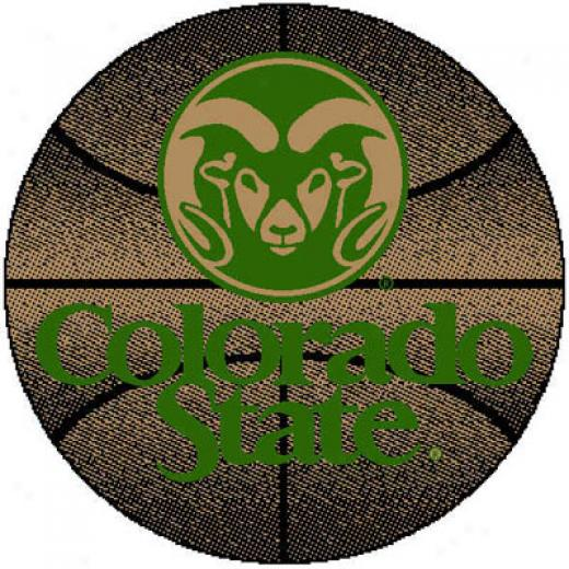 Logo Rugd Colorado State University Colorado State Basketball 4 Ft Area Rugs