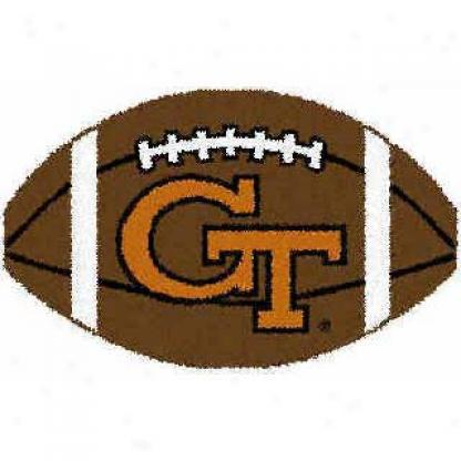 Logo Rugs Georgia Tech University Georgia Tech Football 2 X 2 Area Rugs