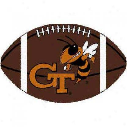 Logo Rugs Georgia Tech University Georgia Tech Football 3 X 6 Area Rugs