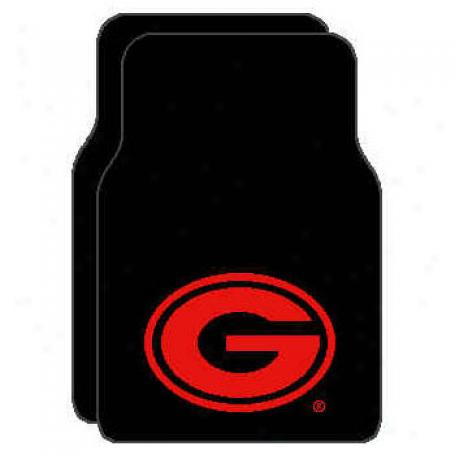 Logo Rugs Georgia University Georgia Entry Mat 2 X 2 Area Rugs