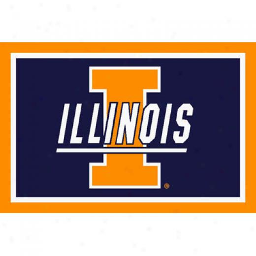 Logo Rugs Illinois University Illinois Entry Mat 2 X 2 Area Rugs