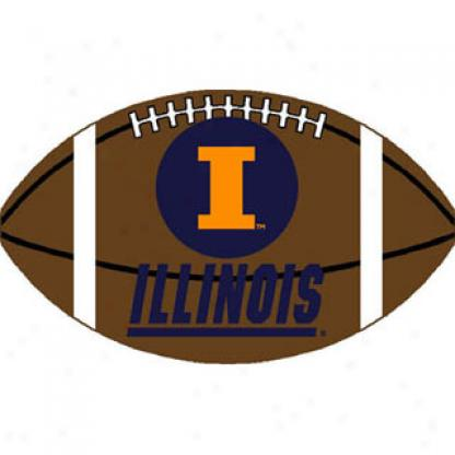 Logo Rugs Illinois University Illinois Football 3 X 6 Area Rugs
