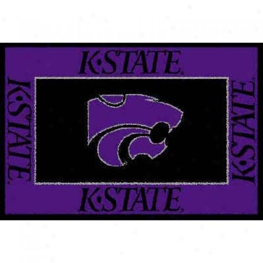 Logo Rugs Kansas State University Kansas State Area Rug 4 X 6 Area Rugs