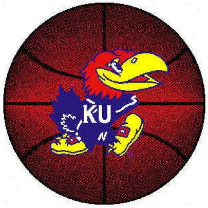 Logo Rugs Kansas University Kansas Basketball 4 Ft Area Rugs