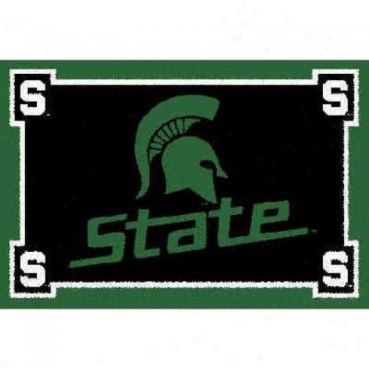 Logo Rugs Michigan State University Michigan State Basketball 4 Ft Area Rugs