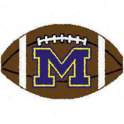 Logo Rugs Michigan University Michigan Football 2 X 2 Area Rugs