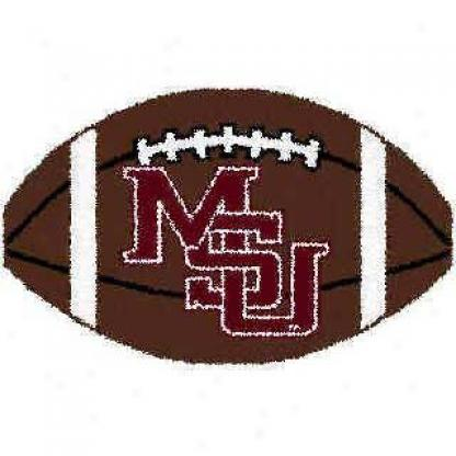 Logo Rugs Mississippi State University Mississippi State Football 3 X 6 Area Rugs