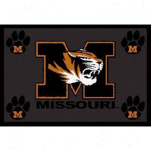 Logo Rugs Missorui University Missouri Area Ruh 3 X 5 Area Rugs