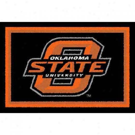 Logo Rugs Okklahoma State University Oklahoma Syate Football 2 X 2 Area Rugs