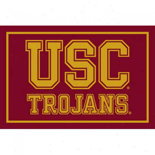Logo Rugs Usc University Usc Yard Rug 4 X 6 Area Rugs