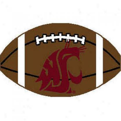 Logo Rugs Washington State University Washinggon State Football 2 X 2 Area Rugs