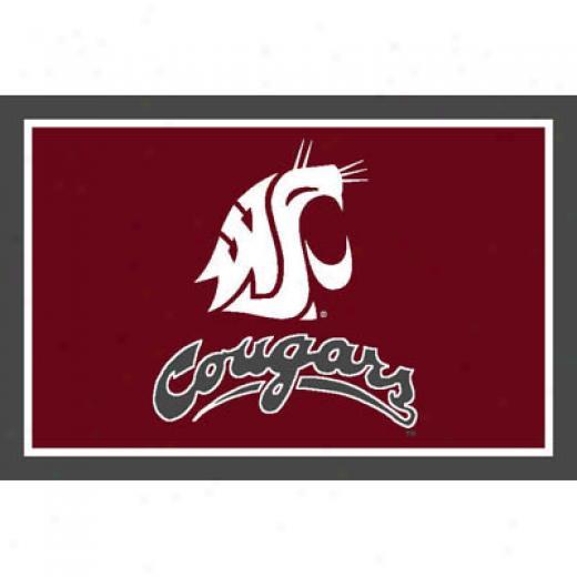 Logo Rugs Washington State University Washington State Area Rug 3 X 5 Area Rugs