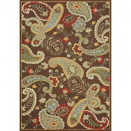 Loloi Rugs Chelsy 4 X 6 Chocolate rGeen Area Rugs