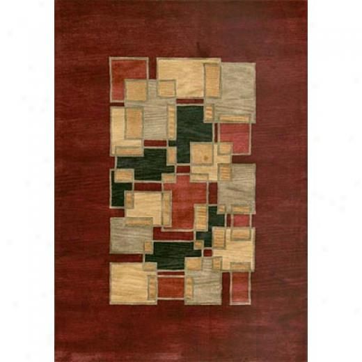 Loloi Rugs Crescent 5 X 8 Red Multi Area Rugs