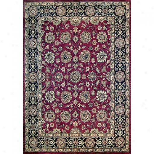 Loloi Rugs Maple 4 X 6 Red Black Area Rugs