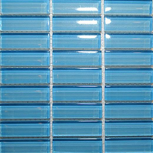 Maes5ro Mosaics Crystal Glass Mosaic Sky Blue Tile & Stone
