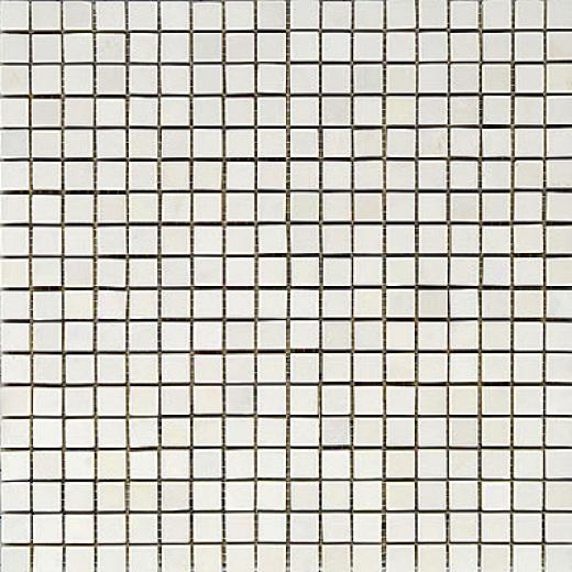 Maestro Mosaics Marble 5/8 X 5/8 Mosaic Polished White Statuary Tile & Stone