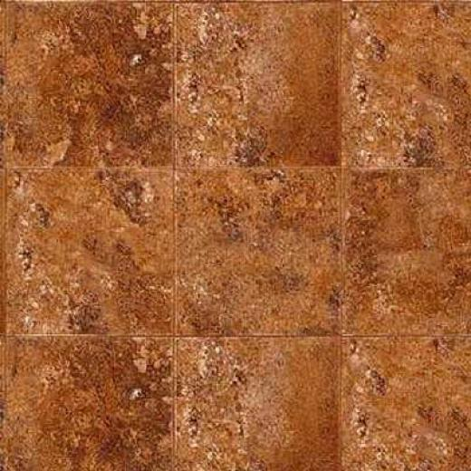 Mannington Realistique - Lava Stone 6 Earthen Brown Vinyl Floooring