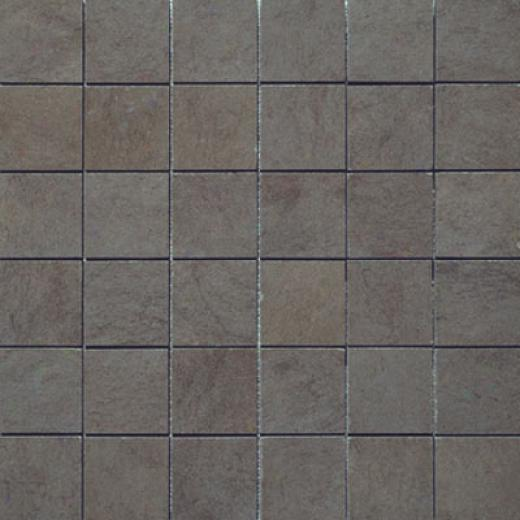 Marazzi Stone Collection Mosaic 2 X 2 Stone Anthracite Tile & Stone