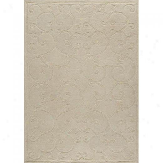 Mat The Basics Annapurna 6 X 8 White Area Rugs
