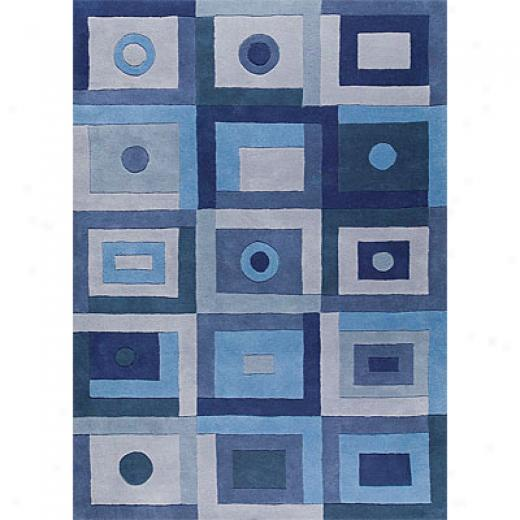 Mat The Basics Berlin 6 X 8 Blue Area Rugs