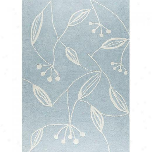 Mat The Basics Flora 5 X 7 Blue Area Rugs