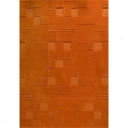 Mat The Basics Miami 7 X 10 Orange Area Rugs