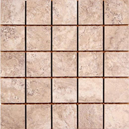 Megatrade Corp. Capri Islands Inlaid Walnut Taupe Tile & St0ne