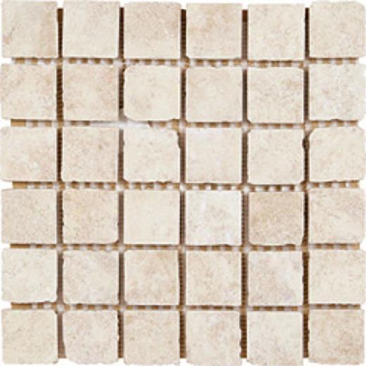 Megatrade Corp. Maya Mosaico 13 X 13 Tikal Avorio Ivory Tile & Stone