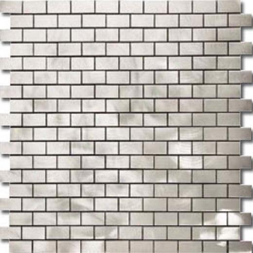 Metal Border Pure Metal Brick Staggered Mosaic 1 X 2 Graffiato/brushed Tile & Stone