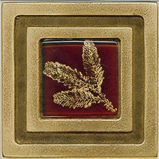 Miila Studios Bronze Milan 4 X 4 Milian With Smal lFern Tile & Stone
