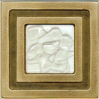 Miila Studios Bronze Milan 4 X 4 Milan With Whte Mist Tile & Stone