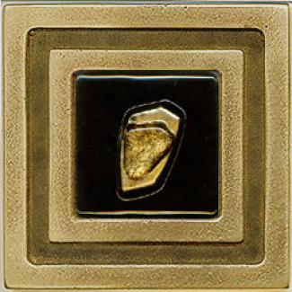 Miila Studios Bronze Milan 4 X 4 Milan With Jewel Gold Tile & Stone