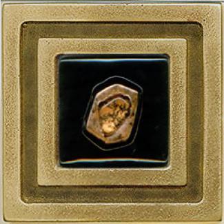 Miila Studios Bronze Milan 4 X 4 Milan With Carnelian Tile & Stone