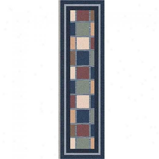 Milliken Ababa 2 X 8 Runner Royal Area Rugs