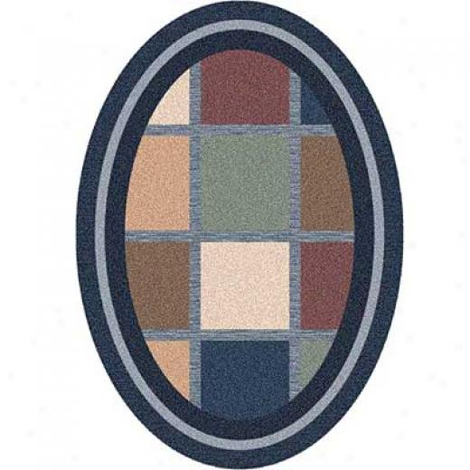 Milliken Ababa 8 X 11 Oval Royal Area Rugs
