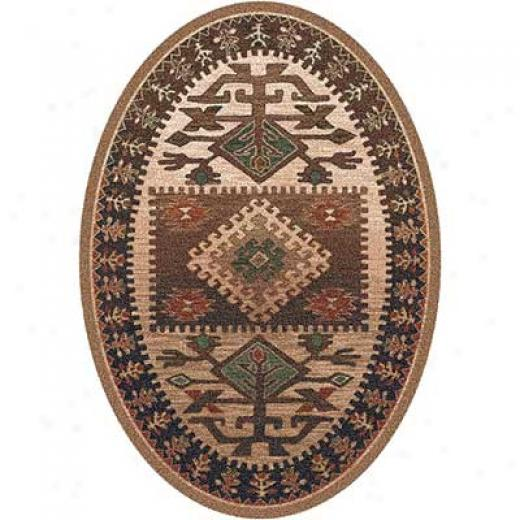 Milliken Ahvaq 5 X 8 Oval Brown Area Rugs