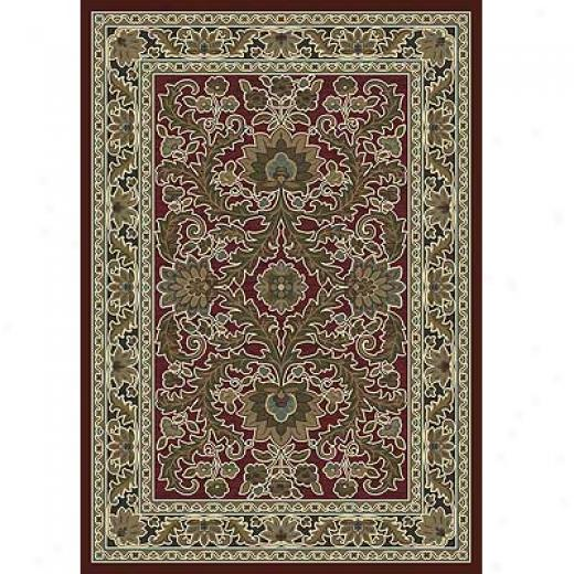 Milliken Akhisar 4 X 5 Cranberry Antique Area Rugs