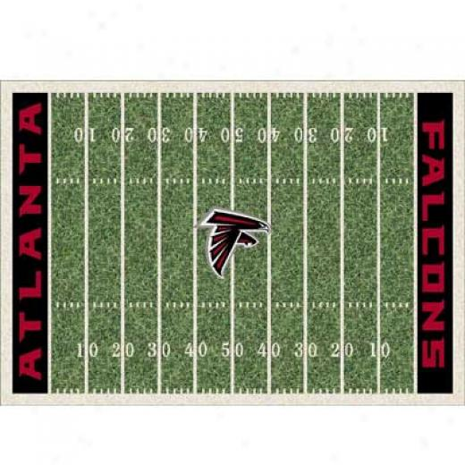 Milliken Atlanta Falconq 5 X 8 Atlanta Falcons Battle-~ Area Rugs