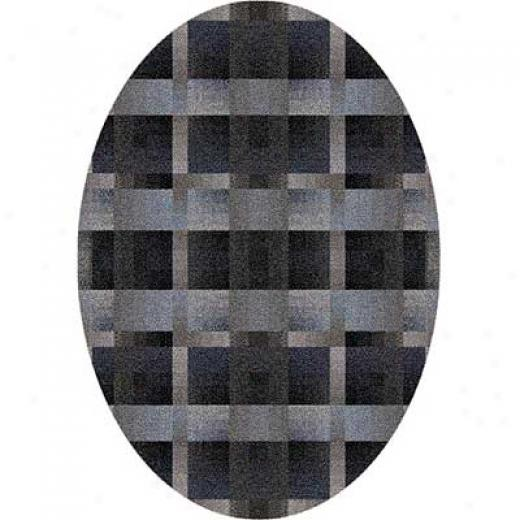 Milliken Aura 4 X 5 Oval Charcoal Area Rugs