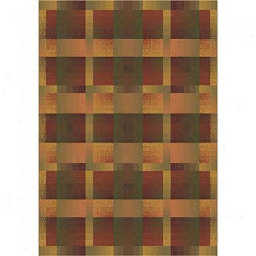 Milliken Aura 5 X 8 Fall Orange Area Rugs