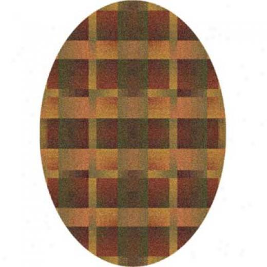 Milliken Aura 5 X 8 Oval Fall Orange Area Rugs