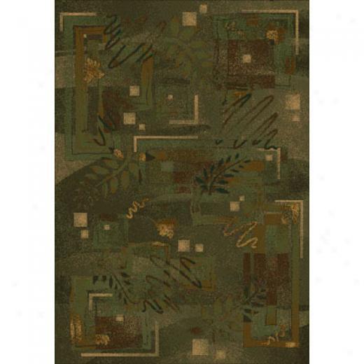 Milliken Autumn Twill 5 X 8 Olive Ara Rugs