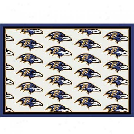 Milliken Baltimore Ravens 11 X 13 Baltimore Ravens Team Area Rugs