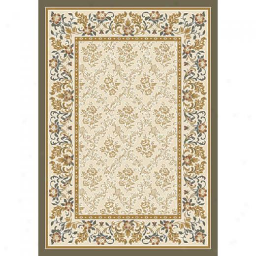 Milliken Banbury 4 X 5 Oval Sage Antique Area Rugs