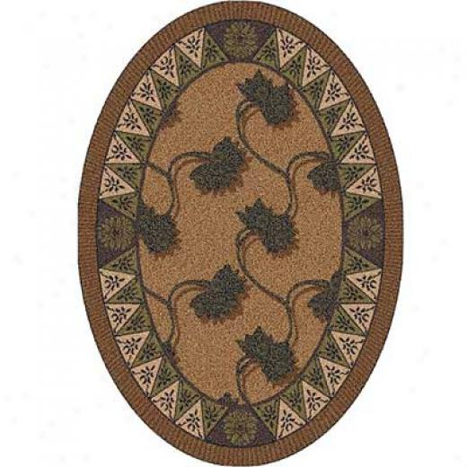 Milliken Bantam 5 X 8 Oval Walnut Area Rugs